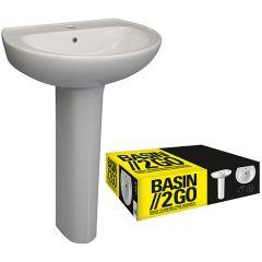 Basin 2 Go - Complete Basin & Pedestal Set