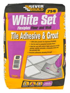 714 Whiteset Flexiplus Tile Adhesive 20Kg