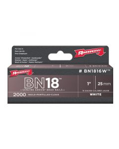 BN1816 Brad Nails 25mm White Head Pack 2000