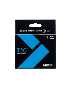 T50 Staples 6mm (1/4in) Pack 5000 (4 x 1250)